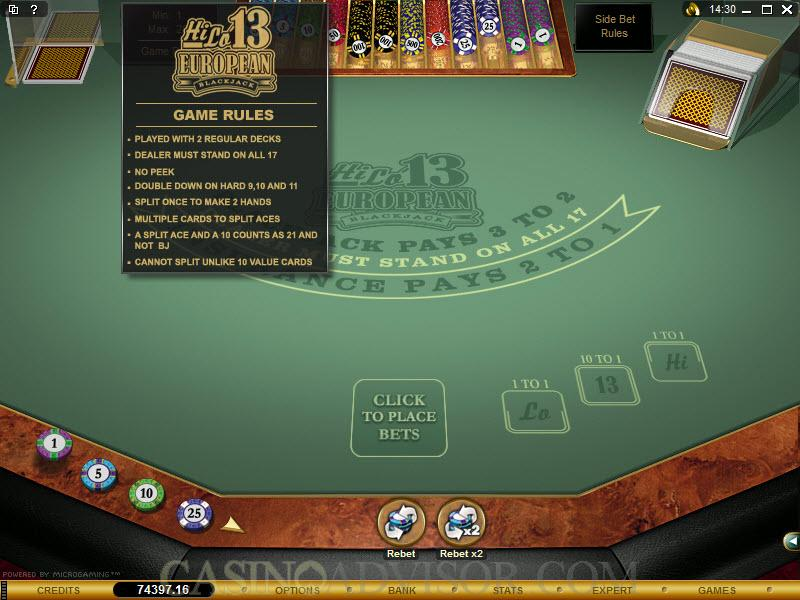 Microgaming European Blackjack – 38785