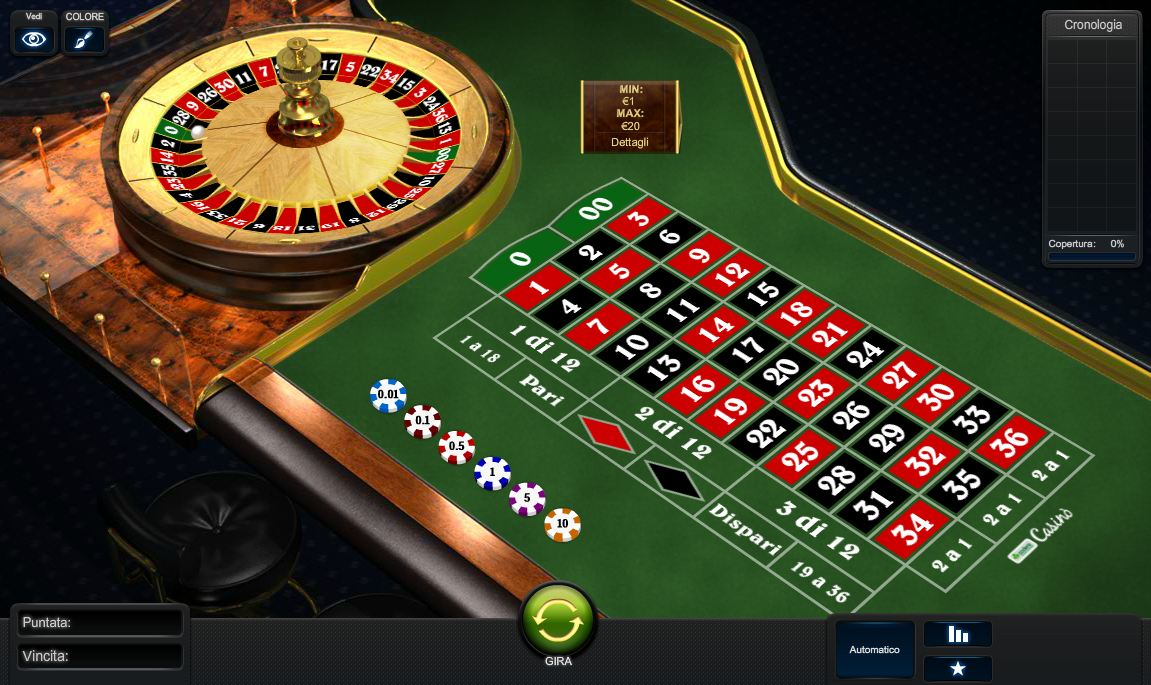 Roulette francese in – 68720